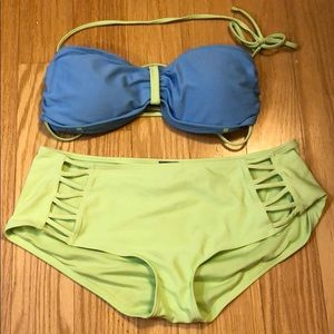Aerie bathing suit. High waisted